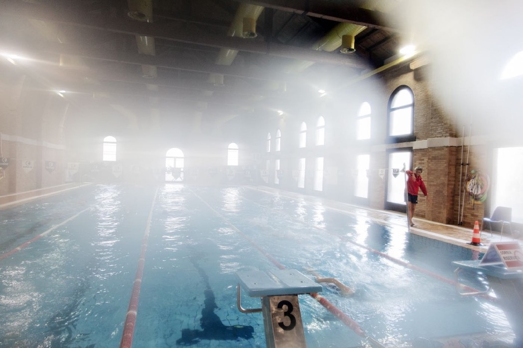 Swimming pool in the Sant'Alvise sports centre, Cannaregio district