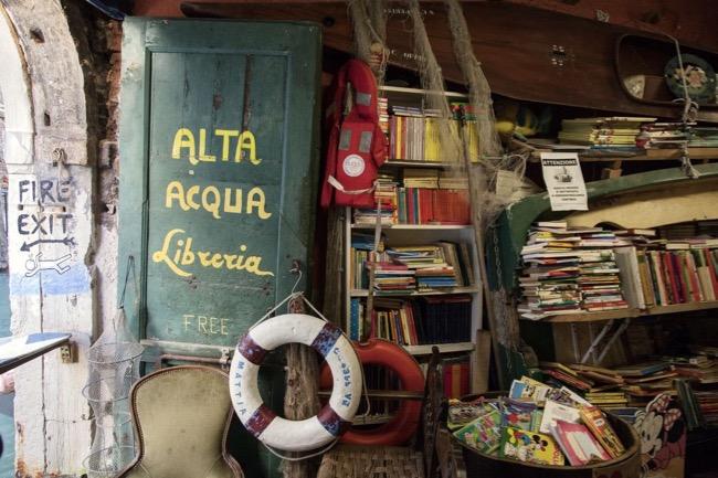 Libreria Acqua Alta, Castello. Venezia 2017